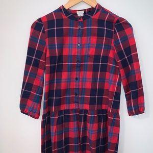 Crewcuts flannel dress